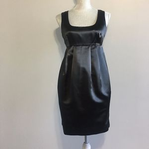 Michael Kors Black Satin Sleeveless Dress